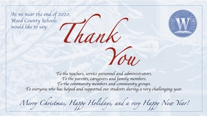 Wood County Schools says Thank You