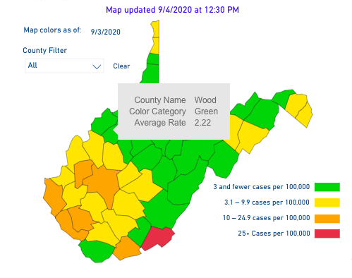 County Alert Map